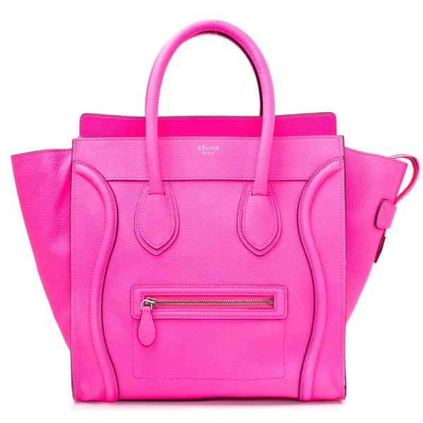 3124bcb771 Céline Luggage Tote in Hot Pink Express Yourself - Polyvore