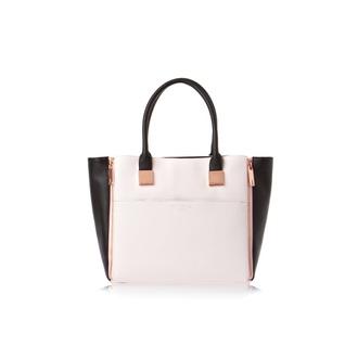 bag ted baker handbag rose gold black classy designer bag pink