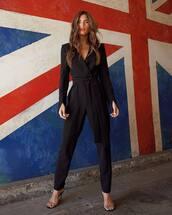 jumpsuit,rocky barnes,instagram,blogger,blogger style,black,pants
