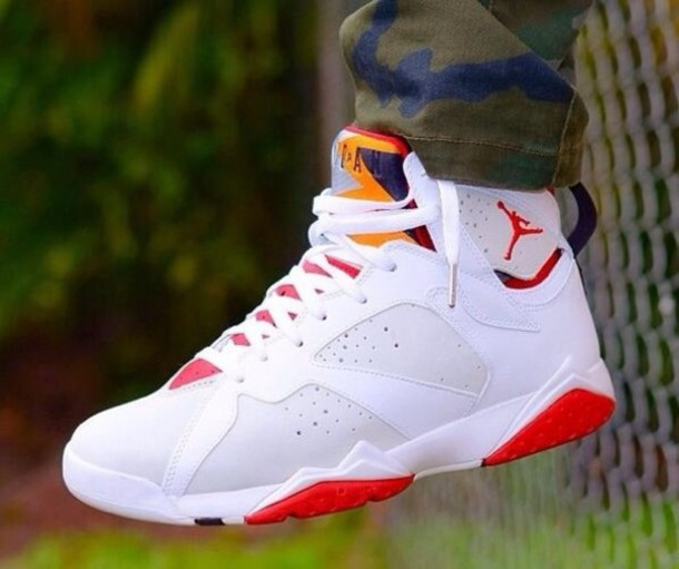 Mens Air Jordan Retro 7 White shoes