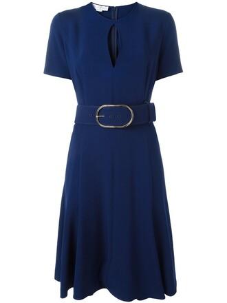 dress belted dress blue