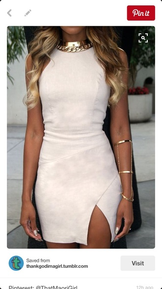 dress open front bodycon dress light pink beige dress classy