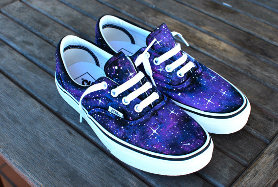 Custom Galaxy Vans Era shoes van BStreetShoes op Etsy