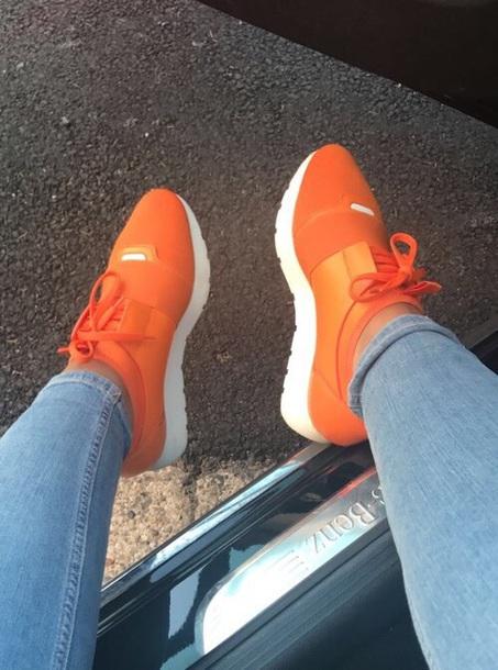 shoes sneakers orange