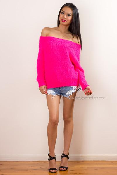 Lovestruck hot pink jumper