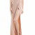 Nude Maxi Slit Elegant Wrap Drape Fishtail Dress on Storenvy