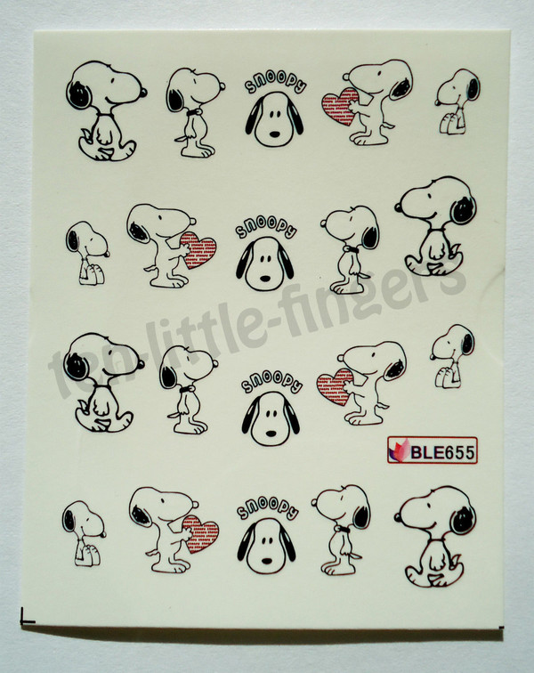 nail accessories nails decoration manicure pedicure hot dog snoopy heart stickers decal diy