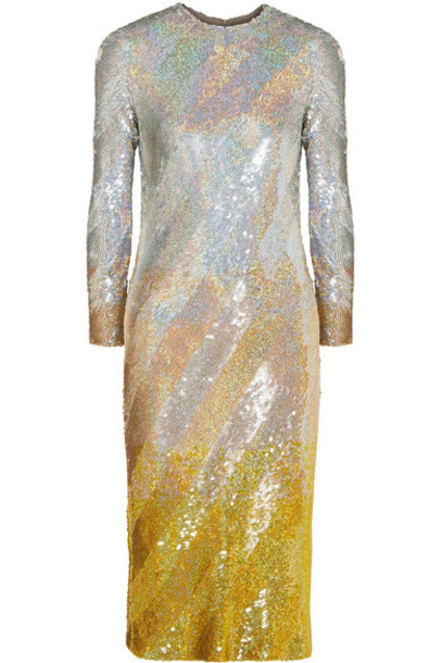 Ashish dress midi dress midi silver silk