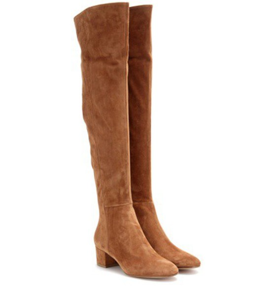 Gianvito Rossi boots suede brown shoes