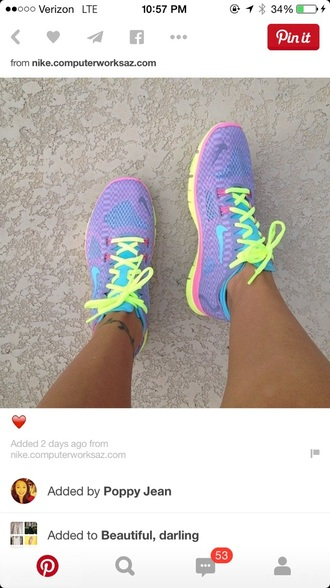 shoes pastel nike bright