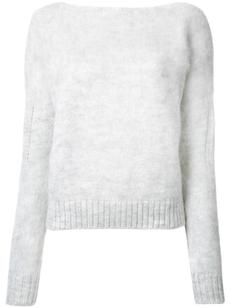 jumper women mohair wool grey sweater