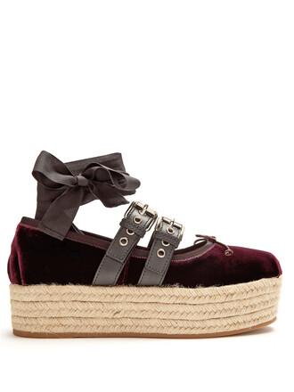 ballet pumps velvet burgundy shoes