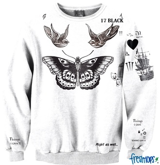 top harry styles tattoo sweater