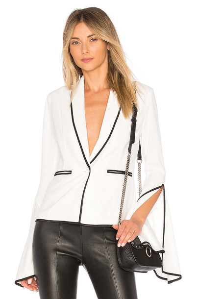 Lovers + Friends blazer flare white jacket