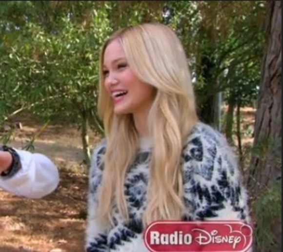 sweater disney olivia holt music video