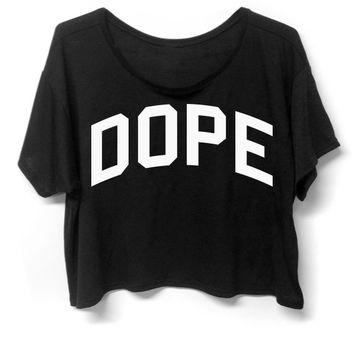 Dope - Boxy Top - Black on Wanelo