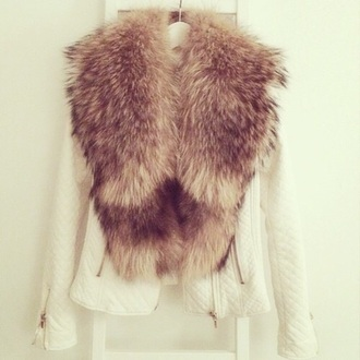 jacket white jacket fur fur coat brown fur fur collar fur collar coat fur collar jacket coat