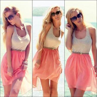 dress summer summer dress prom dress mini dress white dress rose dress grey top skirt long skirt brown belt belt summer outfits 5 seconds of summer pink