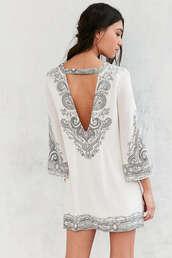 dress,backless,bell sleeves,mini dress