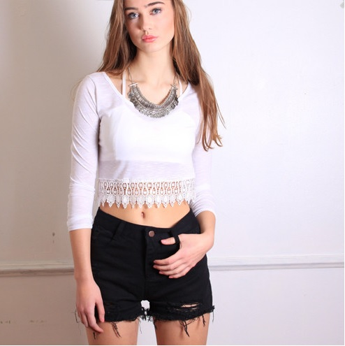 White lace top from australian wardrobe on storenvy