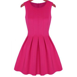 dress pink cute pretty sexy girly sleeveless cool stylish trendy fashionista pink dress beautiful party party dress cute dress solid color cocktail dress rose