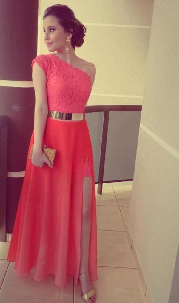 Aliexpress.com : Buy Dresses Coral Color Vestidos Formales Best Seller