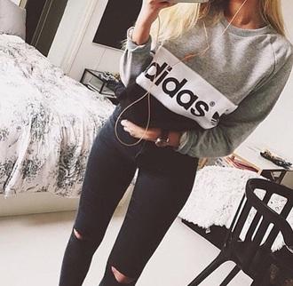 sweater adidas wings adidas tracksuit bottom grey sweater grey t-shirt white dress black jeans black dress black bikini