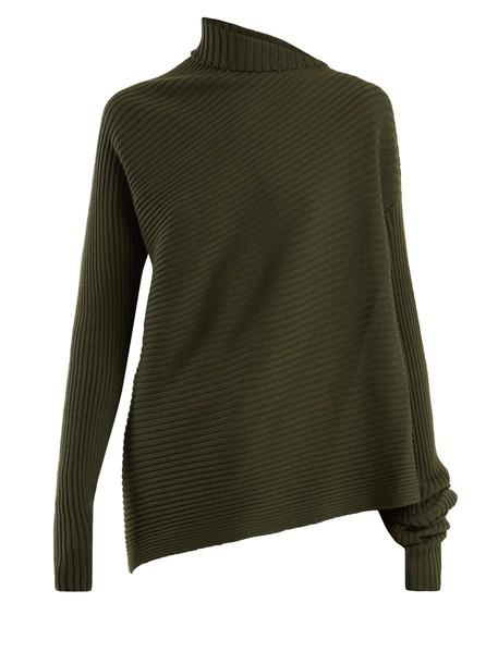 MARQUES'ALMEIDA sweater wool sweater wool knit khaki