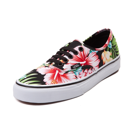 Vans Authentic Hawaiian Floral Skate Shoe Black Hawaiian