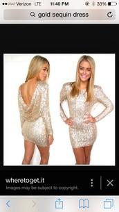 dress,gold sequins,gold sequins dress