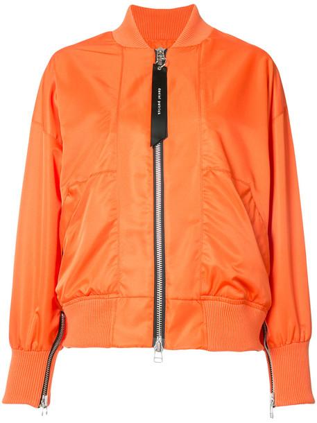 Jacket Bomber Jacket Women Yellow Orange Wheretoget