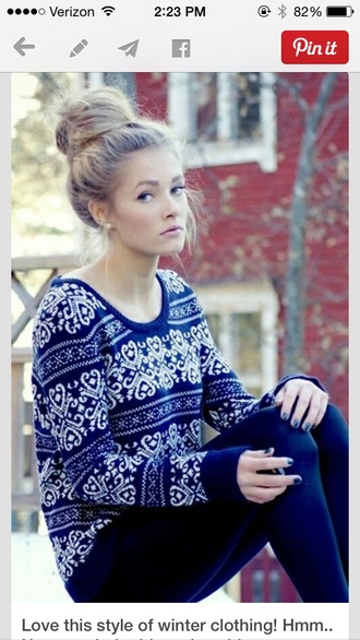 print christmas style holiday season winter sweater