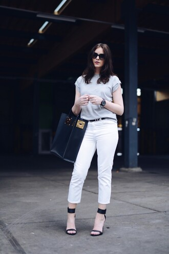 moderosa jeans belt bag shoes shirt