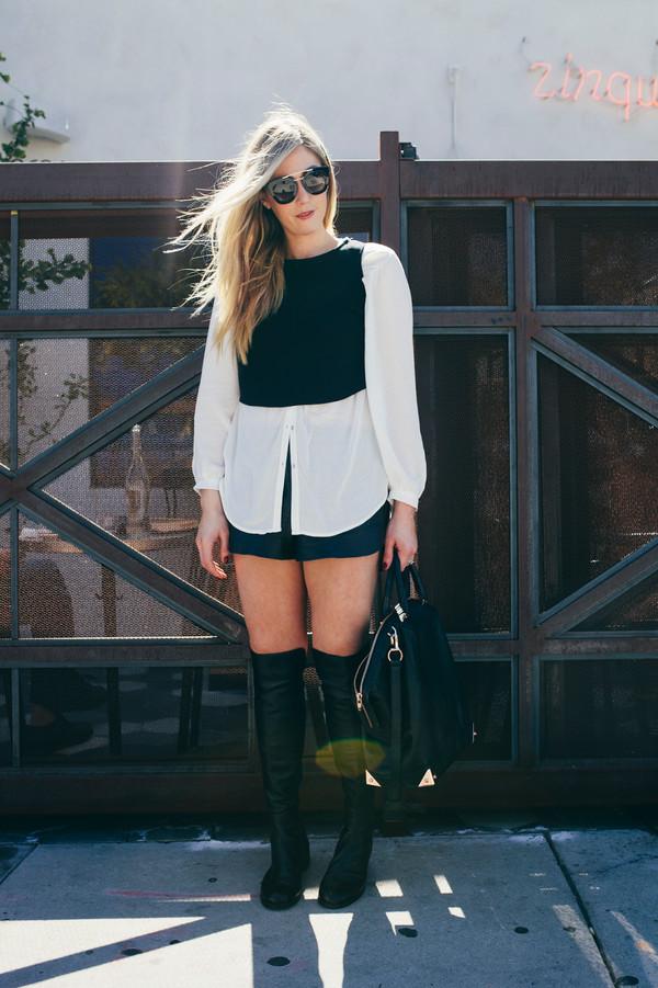 devon rachel blogger top bag sunglasses