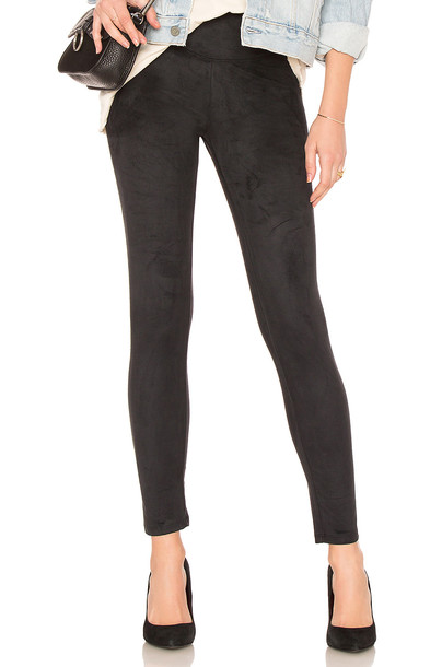 Yummie by Heather Thomson suede black pants