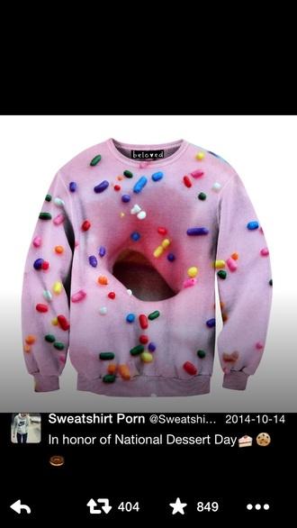 sweater donut sweatshirt