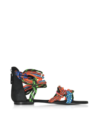 shoes twisted rope flat sandals twisted rope sandals multicolor