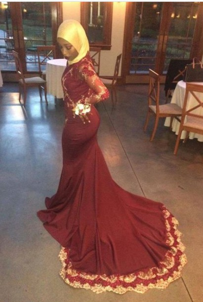 Dress Formal Gown Prom Prom Dress Burgundy Gold Pretty