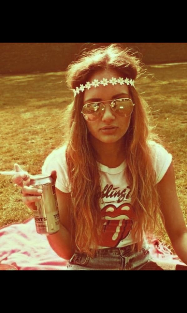 hippie hippie chic flower crown