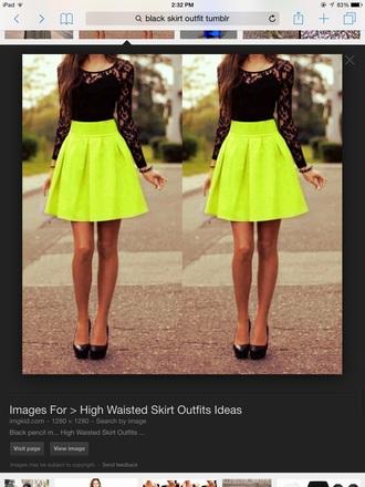 skirt green high waisted skirt