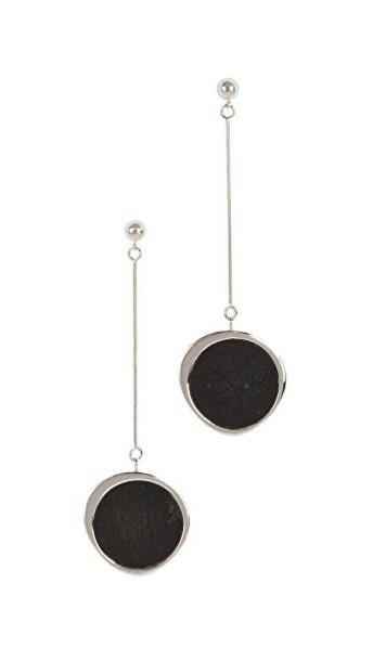 Contempoh earrings silver black jewels