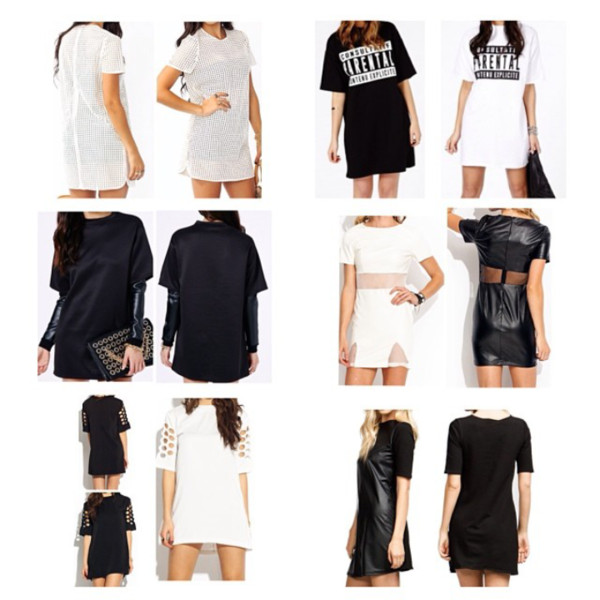 dress black t-shirt dress bag