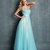 Elegant Sweetheart Lace Appliques Blue Tulle Prom Dress PD11395
