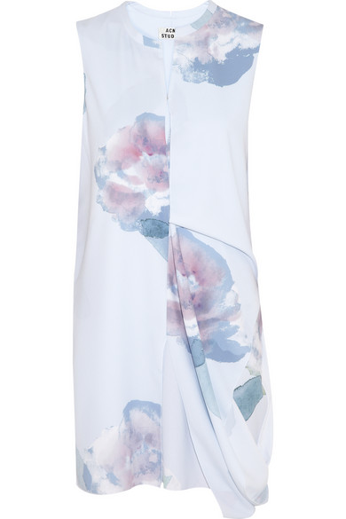 Acne | Pacific draped printed crepe dress | NET-A-PORTER.COM
