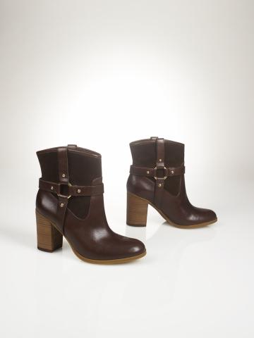 Vachetta-Suede Short Bootie - Lauren Shoes  Shoes - RalphLauren.com