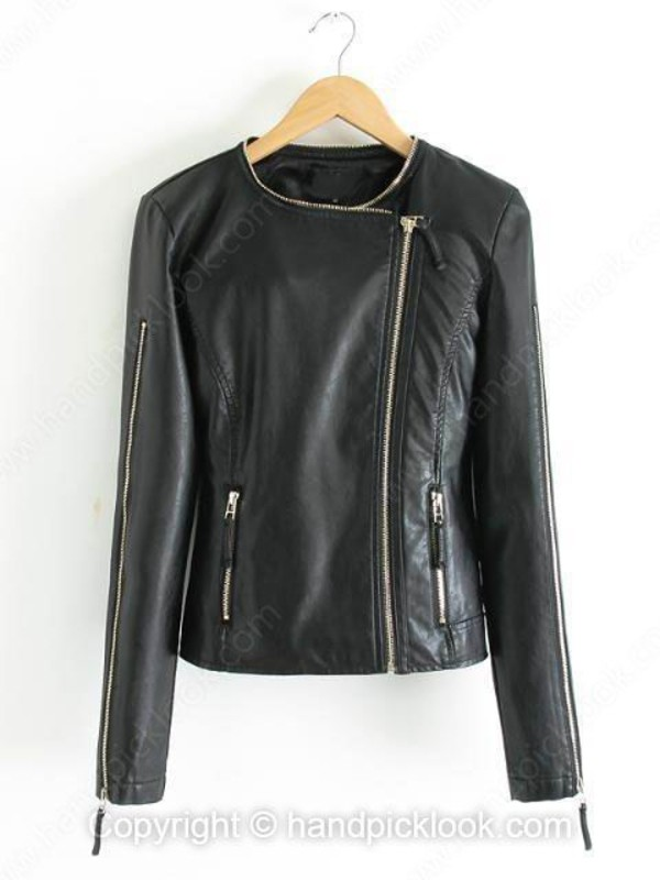 leather caot top