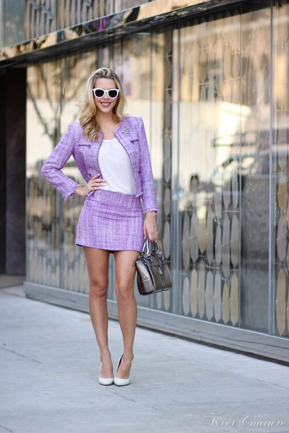 fashion addict blogger tailoring lilac purse