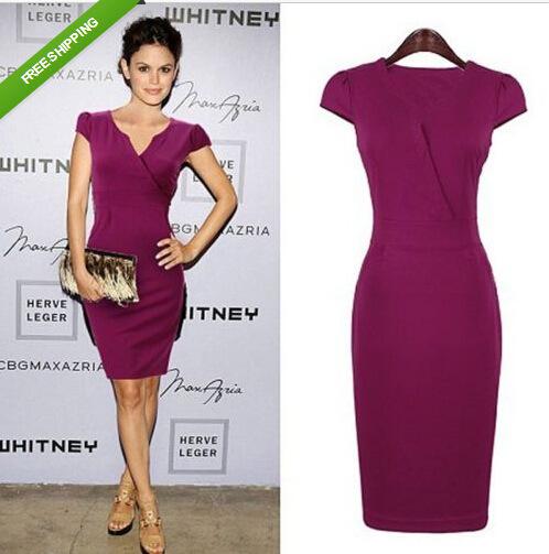 fe4141a74b6d Autumn 2015 Plus Size Woman Clothes OL Casual Dress Vestidos Midi ...