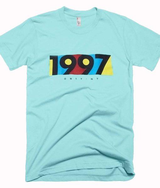 1997 light aqua color T Shirt Size S,M,L,XL,2XL,3XL