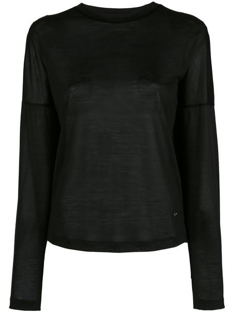 Dsquared2 sweater women classic black silk
